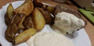 Przepis: Schab z dzika z pieczonymi ziemniakami