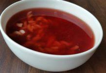 Zupa owocowa z soku z wiśni - Przepis