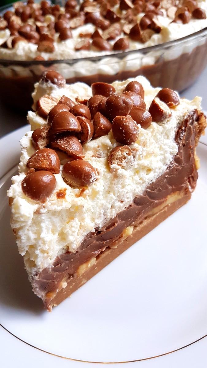Ciasto bez peczenia - ciasteczkowo-czekoladowy obłoczek