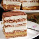 Ciasto 3 bit na herbatnikach (bez pieczenia)