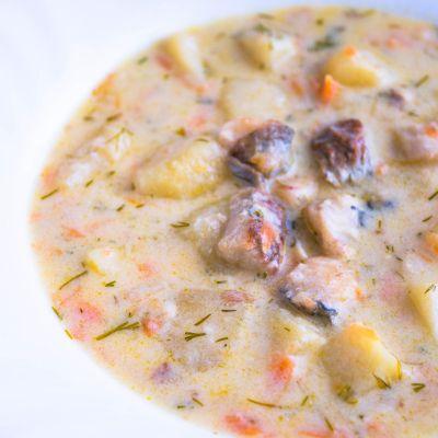 Zupa rybna z dorsza z fileta